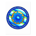 Donuts Make the World go Round - Blue Frosting Postcards