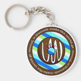 Donuts Make the World go Round - Chocolate Keychain