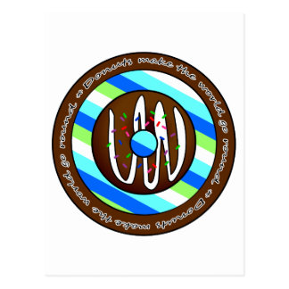Donuts Make the World go Round - Chocolate Postcard