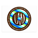 Donuts Make the World go Round - Chocolate Post Card