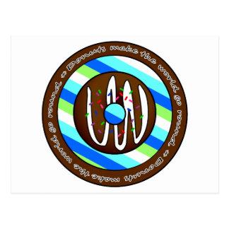 Donuts Make the World go Round - Chocolate Postcard