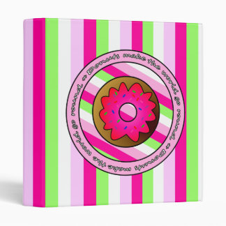 Donuts Make the World go Round - Pink Frosting 3 Ring Binder