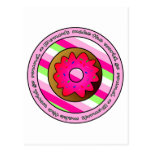 Donuts Make the World go Round - Pink Frosting Postcards