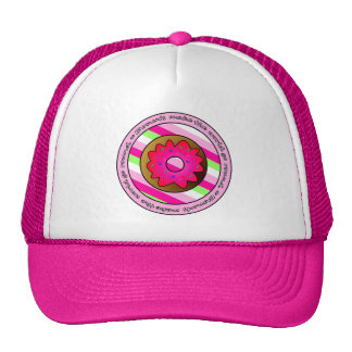 Donuts Make the World go Round - Pink Frosting Trucker Hat