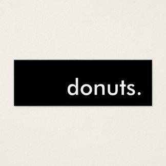 donuts. mini business card