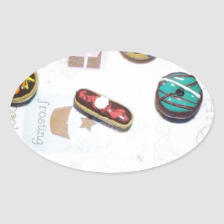 Donuts Oval Sticker