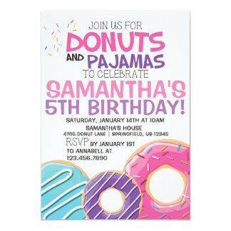 Donuts & Pajamas Birthday Invitation | 5x7