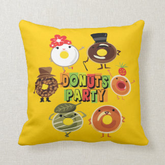 Donuts Party Pillow