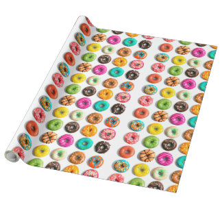 Donuts patern wrapping paper