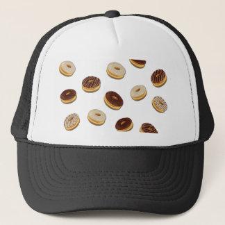 Donuts pattern trucker hat