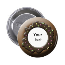 donuts pinback button