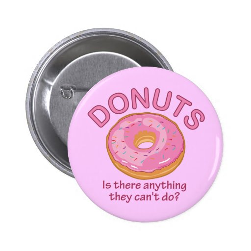 Donuts Pinback Buttons