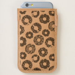 Donuts pop art cool blue orange pattern iPhone 6/6S case