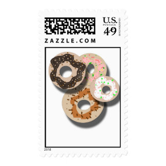 Donuts Postage Stamps