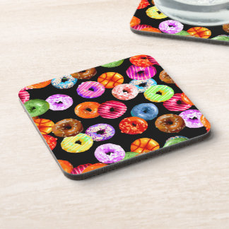 Donuts seamless pattern + your backgr. & ideas beverage coaster