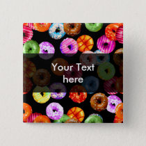 Donuts seamless pattern   your backgr. & ideas button