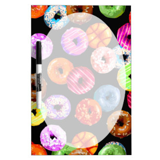 Donuts seamless pattern + your backgr. & ideas Dry-Erase board