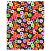 Donuts seamless pattern   your backgr. & ideas fleece blanket
