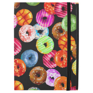 Donuts seamless pattern + your backgr. & ideas iPad pro case