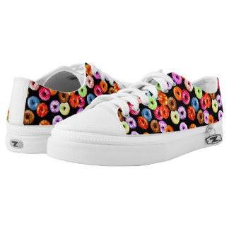 Donuts seamless pattern + your backgr. & ideas Low-Top sneakers
