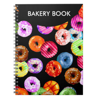 Donuts seamless pattern + your backgr. & ideas notebook