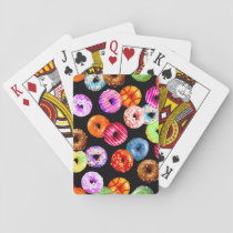 Donuts seamless pattern   your backgr. & ideas playing cards