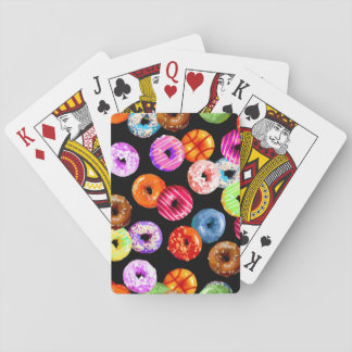 Donuts seamless pattern + your backgr. & ideas playing cards