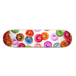 Donuts seamless pattern + your backgr. & ideas skate decks