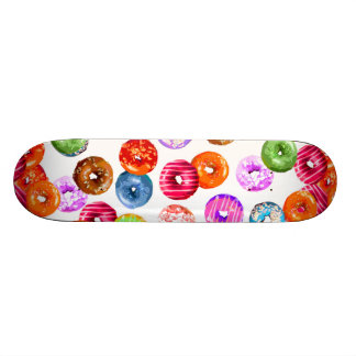Donuts seamless pattern + your backgr. & ideas skateboard deck