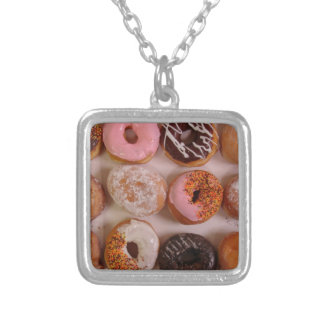 DONUTS! SILVER PLATED NECKLACE