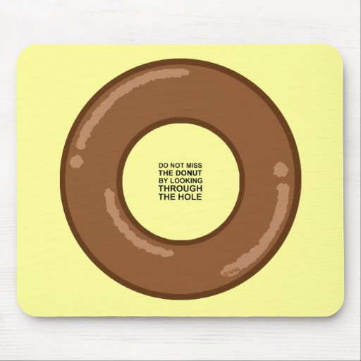Donut's wisdom mouse pad