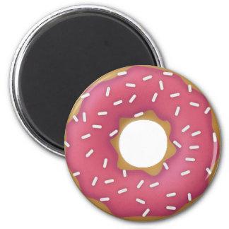 Donutty Pink 2 Inch Round Magnet