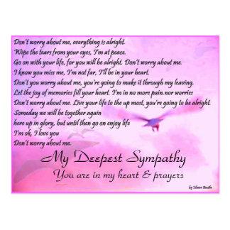 Don'y Worry About Me,Sympathy_Postcard Postcard