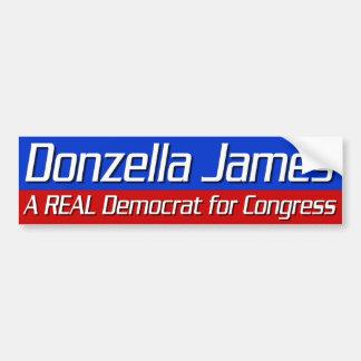 Donzella James para el congreso Etiqueta De Parachoque