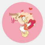 Doo-Abeja mi tarjeta del día de San Valentín Pegatina Redonda