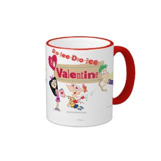 Doo-Bee My Valentine Ringer Mug