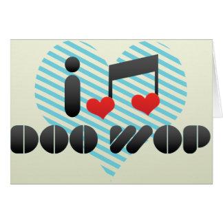 Doo Wop la fan Tarjeta De Felicitación