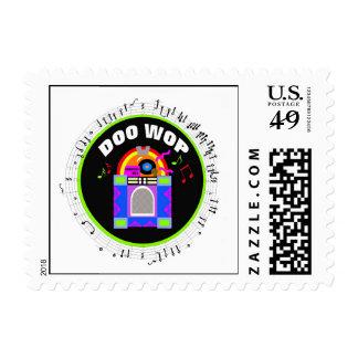 Doo Wop Round Rockin' Postage Stamp