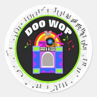 Doo Wop Round Rockin' Stickers