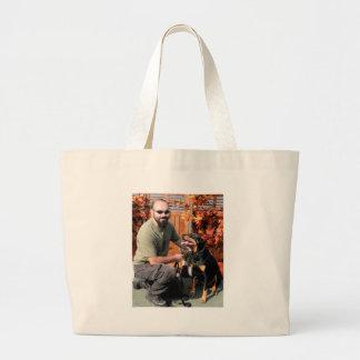 Doobie Doberman Photo-04 Jumbo Tote Bag