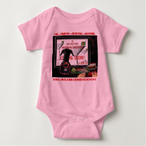 doobie watches TV--CC  Vimx--maricella--pink baby  Baby Bodysuit