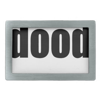 dood poop view weird desire lame unknown abstract rectangular belt buckle