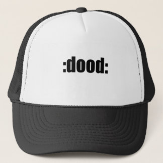 dood poop view weird desire lame unknown abstract trucker hat