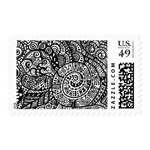 Doodle 02 postage stamp