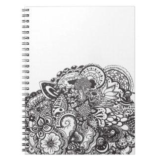 Doodle abstracto de la pluma y de la tinta cuaderno