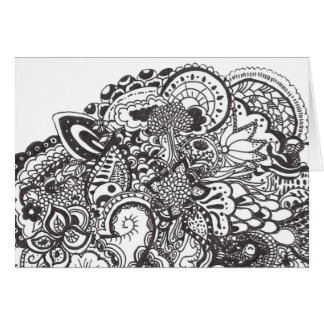 Doodle abstracto de la pluma y de la tinta felicitación