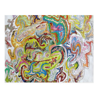 Doodle abstracto postales