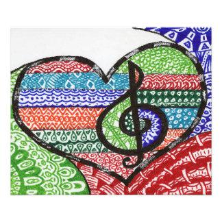 Doodle alegre Personalizable del corazón de la Cojinete