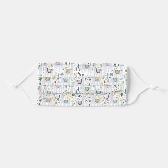 Doodle Alpaca Pattern Cloth Face Maskcom
