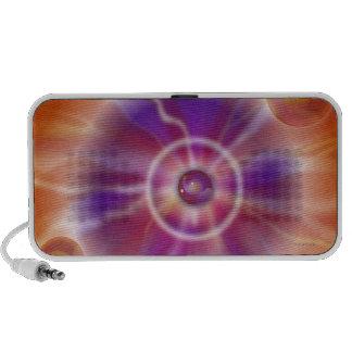 Doodle anaranjado claro de la chispa de la lava de iPod altavoces